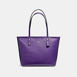 COACH F58846 - CITY ZIP TOTE VIOLET/SILVER