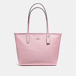 CITY ZIP TOTE - F58846 - CARNATION/SILVER