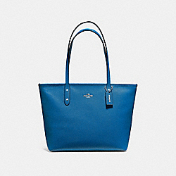 COACH F58846 - CITY ZIP TOTE SKY BLUE/SILVER