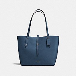 COACH F58849 Market Tote DARK DENIM/MARIGOLD/DARK GUNMETAL