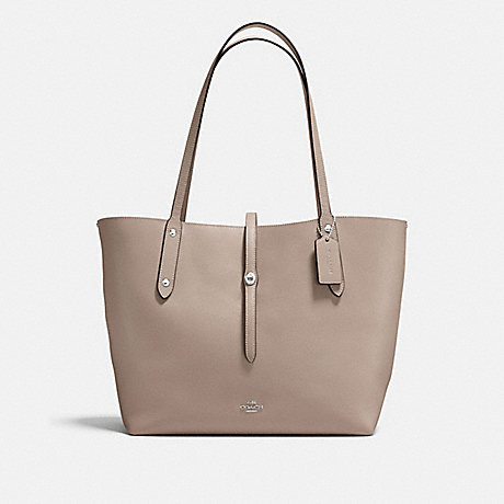 COACH F58849 MARKET TOTE STONE/DUSTY-ROSE/SILVER