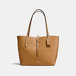 COACH F58849 - MARKET TOTE LIGHT SADDLE/CLOUD/SILVER