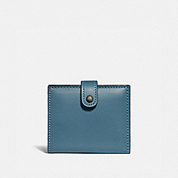 COACH F58851 Small Trifold Wallet CHAMBRAY/BLACK COPPER