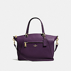 COACH F58874 - PRAIRIE SATCHEL LIGHT GOLD/AUBERGINE