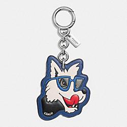 COACH F58886 Wolf Bag Charm SILVER/MULTICOLOR