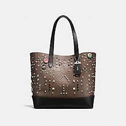 COACH F58909 - GOTHAM TOTE WITH STUDS MILITARY
