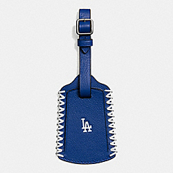 COACH F58943 Mlb Luggage Tag In Smooth Calf Leather LA DODGERS