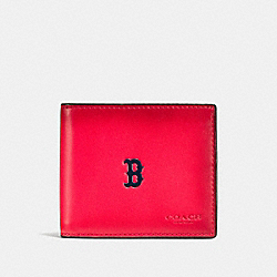 COACH F58947 3-in-1 Wallet With Mlb Team Logo BOS RED SOX