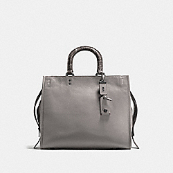 COACH F58965 - ROGUE 36 WITH COLORBLOCK SNAKESKIN DETAIL HEATHER GREY/BLACK COPPER