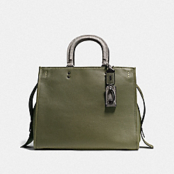 COACH F58965 Rogue 36 With Colorblock Snakeskin Detail BP/OLIVE