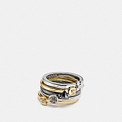 COACH F58988 - COACH DECO MIX RING SET MULTI/GOLD