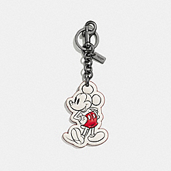 COACH F58994 Mickey Classic Bag Charm BLACK/CHALK
