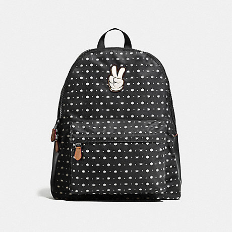 COACH f59035 CHARLES BACKPACK IN PRAIRIE BANDANA PRINT WITH MICKEY Black/Chalk Prairie Bandana