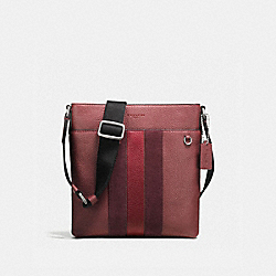 COACH F59038 Metropolitan Slim Messenger DARK NICKEL/BRICK RED