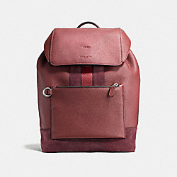 MANHATTAN BACKPACK - f59039 - DARK NICKEL/BRICK RED