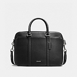 COACH F59057 Perry Slim Brief In Crossgrain Leather BLACK