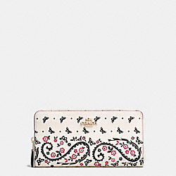 COACH F59063 Accordion Zip Wallet In Butterfly Bandana Print Coated Canvas IMITATION GOLD/CHALK/BRIGHT PINK