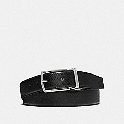 MODERN HARNESS CUT-TO-SIZE REVERSIBLE SMOOTH LEATHER BELT - f59116 - BLACK/DARK BROWN