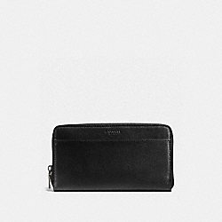 COACH F59120 Travel Wallet In Crossgrain Wallet BLACK