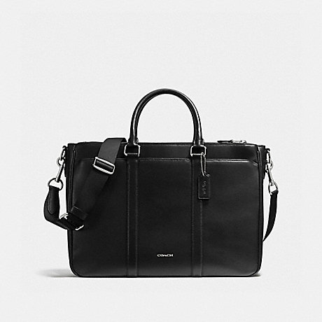 COACH f59141 PERRY METROPOLITAN TOTE IN CROSSGRAIN LEATHER BLACK