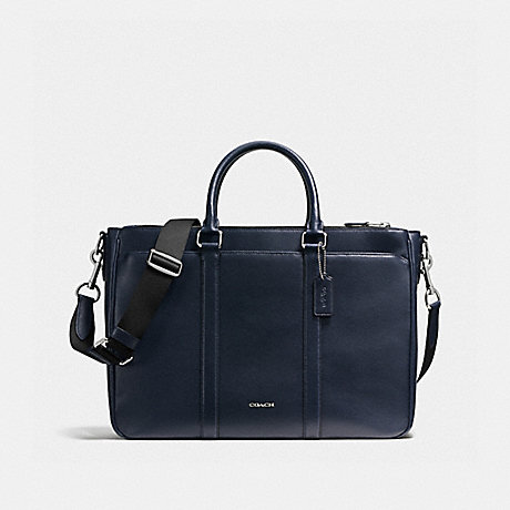 COACH f59141 PERRY METROPOLITAN TOTE IN CROSSGRAIN LEATHER MIDNIGHT