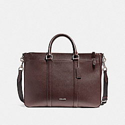 PERRY METROPOLITAN TOTE - f59141 - NICKEL/OXBLOOD