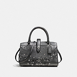 MERCER SATCHEL 24 WITH STAR RIVETS - f59146 - SILVER/METALLIC GRAPHITE
