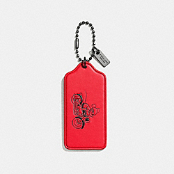 COACH F59153 Mickey Hangtag BRIGHT RED/BLACK