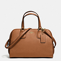 COACH F59180 Nolita Satchel In Pebble Leather LIGHT GOLD/SADDLE