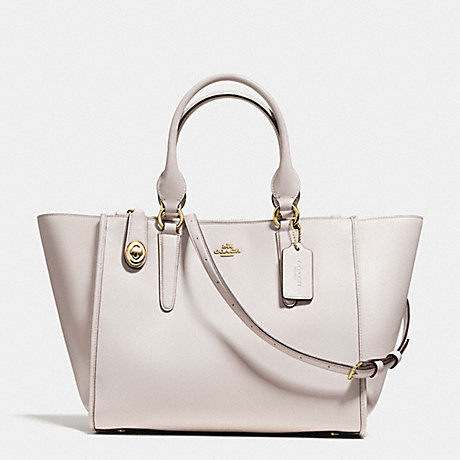 COACH F59183 CROSBY CARRYALL IN SMOOTH LEATHER LIGHT-GOLD/CHALK