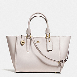 CROSBY CARRYALL IN SMOOTH LEATHER - f59183 - LIGHT GOLD/CHALK