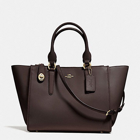 71a3ccd3ba1b COACH F59183 - CROSBY CARRYALL IN SMOOTH LEATHER - LIGHT GOLD DARK ...