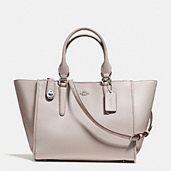CROSBY CARRYALL IN SMOOTH LEATHER - f59183 - SILVER/GREY BIRCH