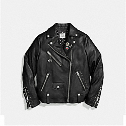 COACH F59231 Mickey Moto Jacket BLACK