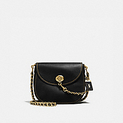 COACH F59241 Turnlock Saddle BLACK/OLD BRASS