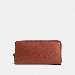 COACH F59278 Accordion Wallet RUST METALLIC