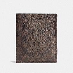 COACH F59283 Slim Coin Wallet In Signature Canvas MAHOGANY