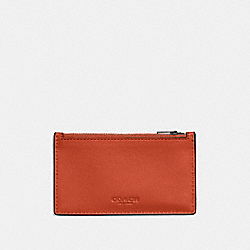 COACH F59288 - ZIP CARD CASE DEEP ORANGE