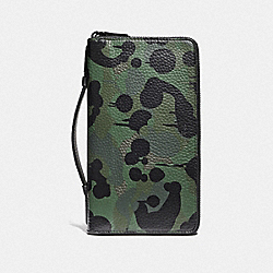 COACH F59298 - DOUBLE ZIP TRAVEL ORGANIZER WITH WILD BEAST PRINT MILITARY WILD BEAST