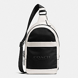 COACH F59320 Charles Pack In Nylon CHALK/BLACK