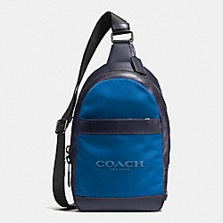 COACH F59320 Charles Pack In Nylon MIDNIGHT NAVY/DENIM