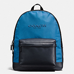 COACH F59321 Charles Backpack In Nylon MIDNIGHT NAVY/DENIM