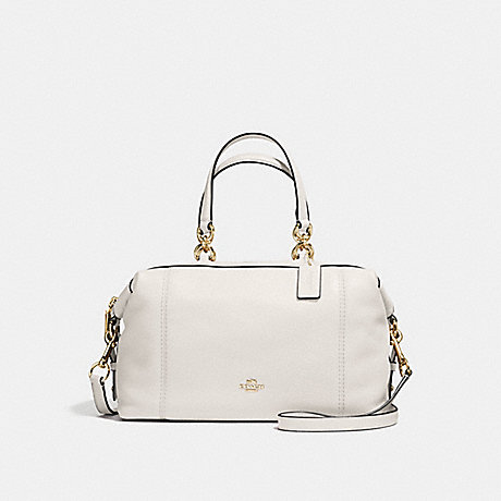 COACH f59325 LENOX SATCHEL IN PEBBLE LEATHER IMITATION GOLD/CHALK