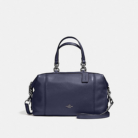 COACH f59325 LENOX SATCHEL IN PEBBLE LEATHER ANTIQUE NICKEL/MIDNIGHT