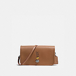PENNY CROSSBODY WITH MICKEY - f59374 - ANTIQUE NICKEL/SADDLE