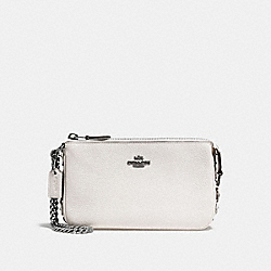 COACH F59381 Nolita Wristlet 19 With Tea Rose Detail CHALK/DARK GUNMETAL