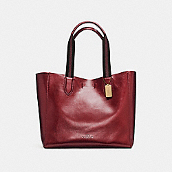 COACH F59388 - LARGE DERBY TOTE LIGHT GOLD/METALLIC CHERRY