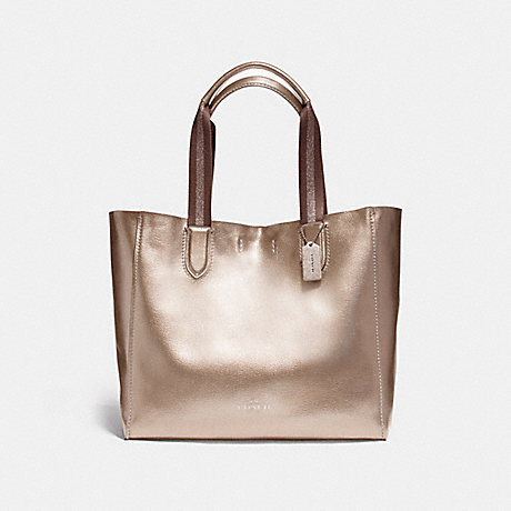 COACH f59388 LARGE DERBY TOTE LIGHT GOLD/PLATINUM