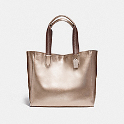 LARGE DERBY TOTE - f59388 - LIGHT GOLD/PLATINUM