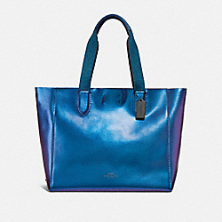 LARGE DERBY TOTE - f59388 - HOLOGRAM/BLACK ANTIQUE NICKEL